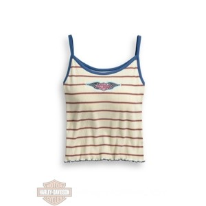 top da donna maglietta canotta harley-davidson striped strappy 9635520-vw