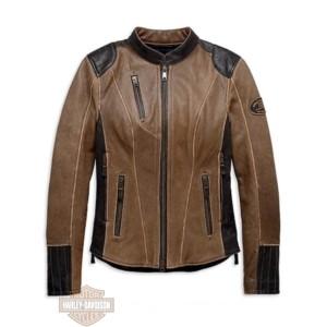 98066-19EW Giubbino Tecnico In Pelle Donna Gallun Triple Vent Harley-Davidson back