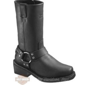 D86222 Stivali in pelle nera impermeabili Hustin da donna Harley-Davidson
