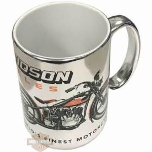 Tazza da caffè in ceramica per moto vintage Harley-Davidson Argento 3AMEP490