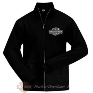 R0023246 Harley-Davidson Bari Felpa Nera B&S con zip e Logo Bari Italy