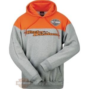 R0026265 Harley-Davidson Bari Felpa Arancione e grigia con Cappuccio