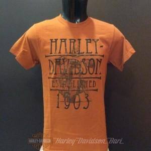 R0031463 Harley-Davidson Bari t-shirt orange 1903